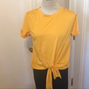 Yellow Gold Front tie shirt size L